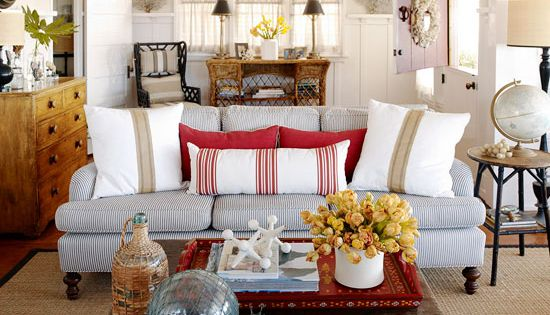 Today's New Cottage Style - home decor, livingroom