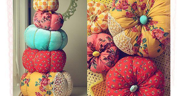 Fabric Pumpkin Tutorial pumpkin halloween fabric halloween pictures halloween images halloween crafts