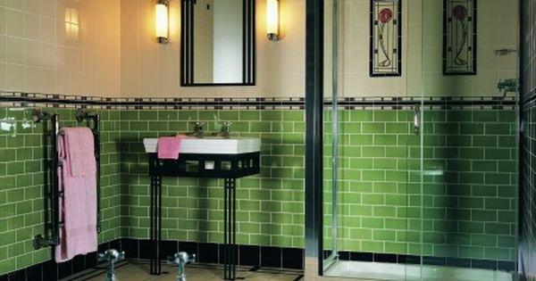 Mooie kleur groen in combi met zwart badkamer pinterest art deco art and deco - Deco toilet zwart ...