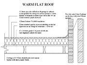 Warm Flat Roof Detail Felt Covering Detail Drawing Flat Roof Roof Detail Warm Roof