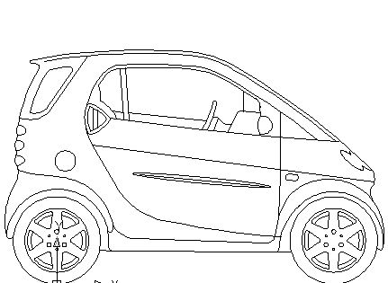 smart c automobile block in vehicles cars autocad free