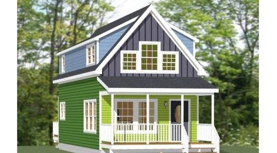 16x40 House 1 193 Sq Ft Pdf Floor Plan Instant Download Model 1 In 2020 Small House Floor Plans Floor Plans House