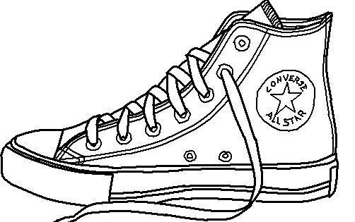 Converse shoe lineart by Conversefan10.deviantart.com on ...