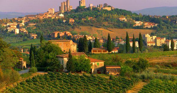 San Gimignano, Tuscany, Italy. Wine country!