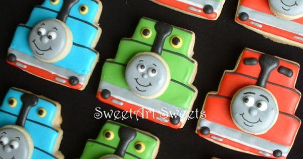 Thomas the Tank Engine - 1 dozen Thomas cookies - Thomas the