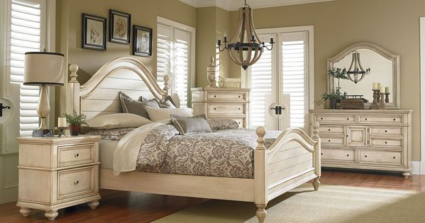 Standard Furniture Chateau Poster Bedroom Set In In Bisque Paint Ideas For The House
