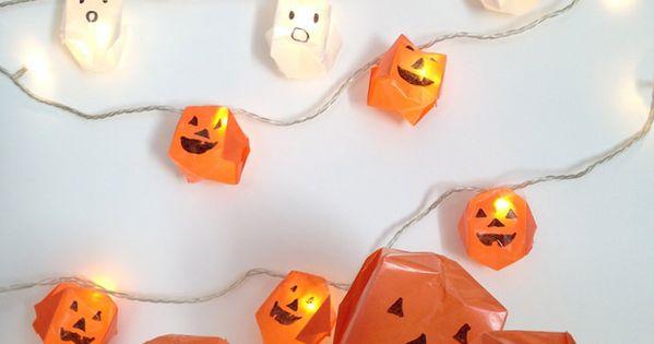 Diy origami halloween lights origami halloween diy for Freshouse foods