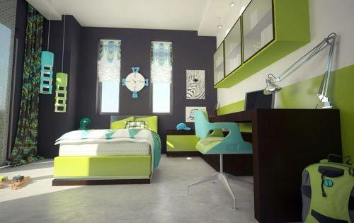 farbgestaltung f rs jugendzimmer 100 deko und einrichtungsideen grau wandgestaltung farben. Black Bedroom Furniture Sets. Home Design Ideas