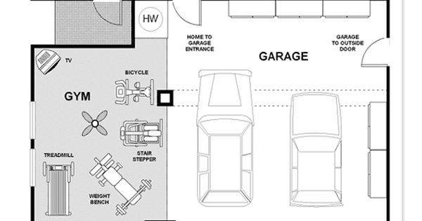 Garage gym could modify to suit individual http