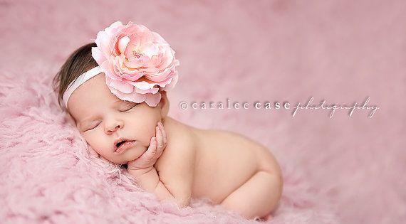 Baby girl flower headband