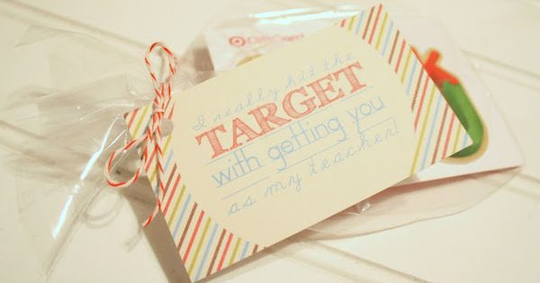 Target Gift Card - Teacher Gift Tag