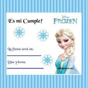 Frozen Invitacion Elsa 300x300 Invitaciones Cumpleaños