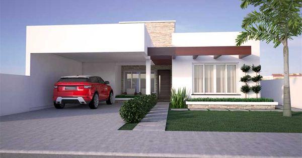 Projeto de casa moderna com 2 quartos e 1 su te monte for Casa moderna 1 8