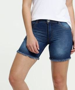 Short Jeans com Barra Dobrada
