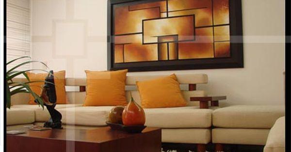 Decoracion de salas con cuadros y espejos cuadros para for Adornos decorativos para sala