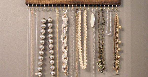 Rangement pour bijoux home made