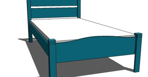 Diy bed frame cute for spare bedroom anna white http for Cute twin bed frames