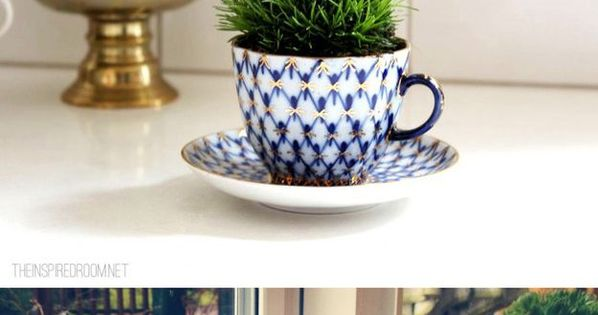 Turn teacups into plant holders. | 51 Insanely Easy Ways To Transform Your Everyday Things. i love all these ideas