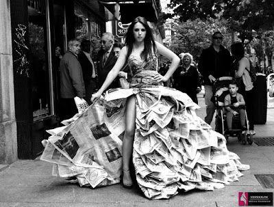 53 Fotos Vestidos Reciclados Originales Ideas Bellas Y