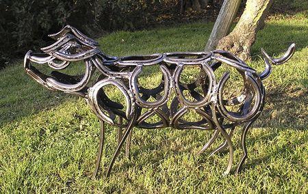12 Amazing Horseshoe Sculptures Horseshoe Art Welding Art Metal Yard Art