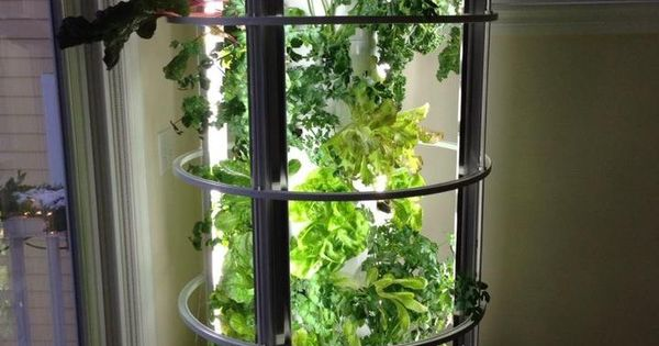Tower Garden Hooded Grow Lights Mobile Moveable Portable