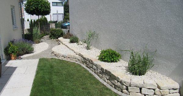 garten trockenmauer naturstein hochbeet aus jura kalk stein rock wall garten. Black Bedroom Furniture Sets. Home Design Ideas