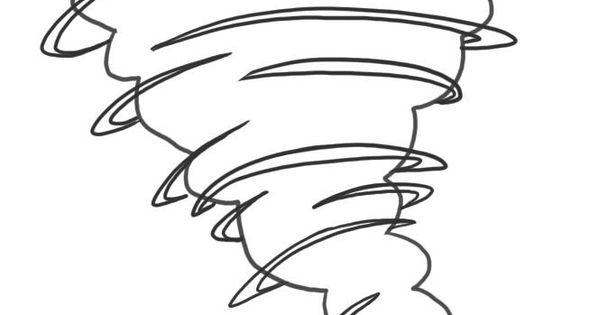 tornado coloring pages - tornado coloring pages how to draw a tornado step 4