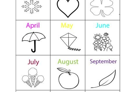 Months Of The Year Coloring Page From TwistyNoodle.com