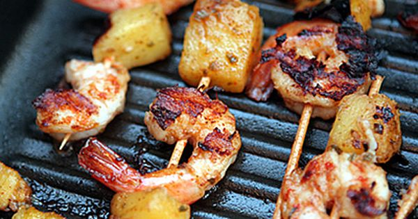 Delicious and easy Pina Colada Shrimp Skewers recipe for diabetics ...