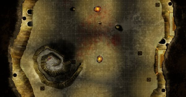 Cavern Arena Battle Map From Cartographers Guild Maps