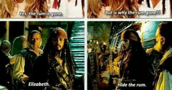 Why Is The Rum Gone Quote: Pirates Of The Caribbean
