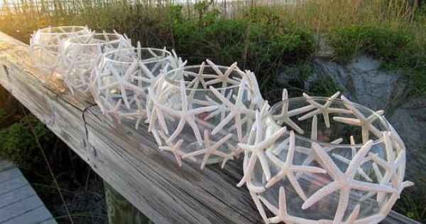 Starfish Candle Centerpieces beach theme
