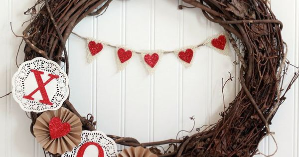 diy valentine's day door decorations
