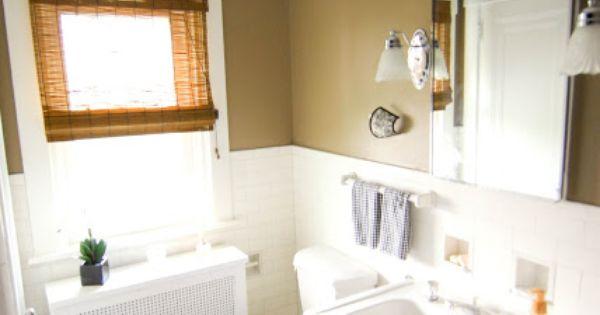 Black And Tan Bathroom: Black & Tan Bathroom With Bamboo Shades Sherwin Williams