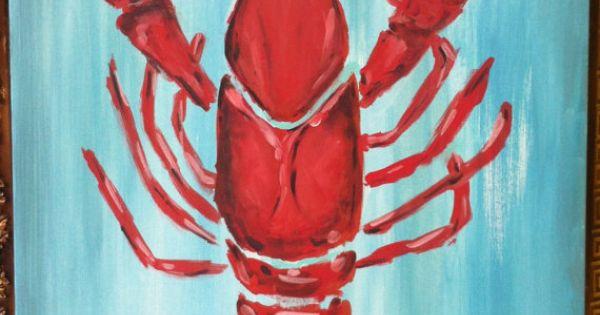 Louisiana Crawfish Painting For Sale On Etsy Art