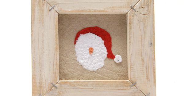 in pallet frame decorative Santa rustic Santa paper Santa Christmas ...