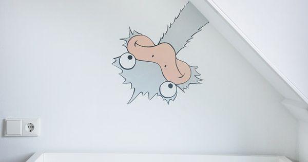 Grappige kinderkamer struisvogel wandschildering in moderne 39 muursticker stijl 39 ontwerp en - Ontwerp muurschildering ...