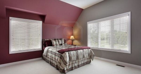Maroon Accent Wall With Gray Other Walls Maybe For The Den Maroon Living Room Maroon Room Burgundy Living Room