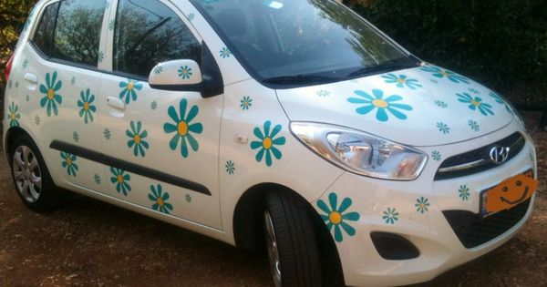 We Make Daisy Flower Stickers In All Colours And Sizes At Hippy