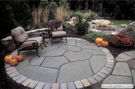 Pin By Kimberly Petkosh On Garden Patio Landscaping Hillside Landscaping Circular Patio