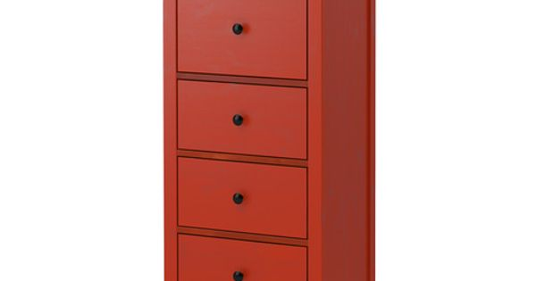 ikea hemnes kommode mit 5 schubladen rot aus massivholz einem strapazierf higen. Black Bedroom Furniture Sets. Home Design Ideas