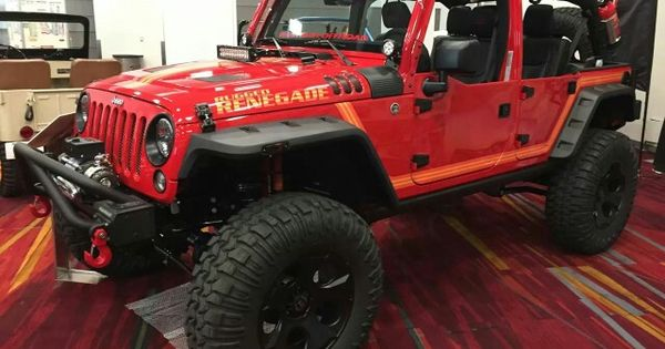 Sema Jeep Madness Rugged Renegade With Images Cool Jeeps Jeep Wrangler Jeep Guys