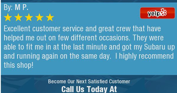 Excellent customer service and great crew that have helped me out - excellent customer service