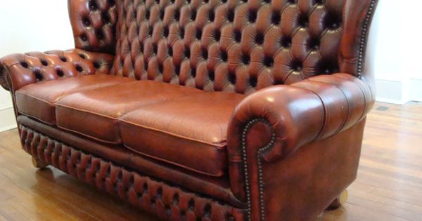 Chesterfield Monks High Back Wing Chair Monks Chesterfield
