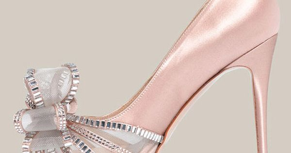 Valentino Crystal Bow Satin Pump