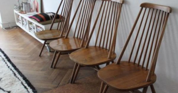 4 Midcentury Windsor Chairs In The Style Of Tapiovaara In Berlin Windsor Chair Chair Home Decor