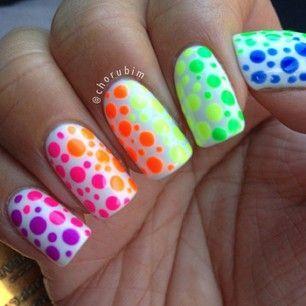 50 Different Polka Dots Nail Art Ideas That Anyone Can Diy Dots Nails Bright Nail Designs Bright Nails