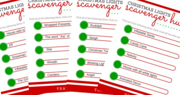 dating divas christmas light scavenger hunt