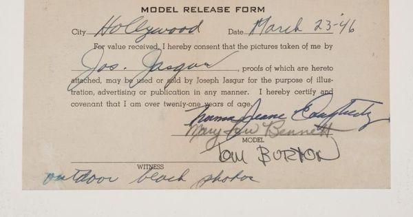 model release form monroe - Google Search Marilyn M \ Joseph - model release form