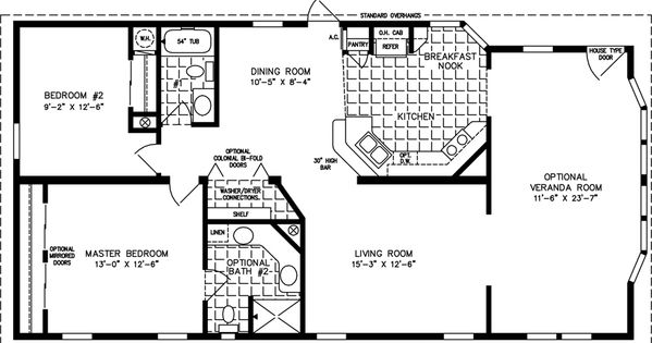 Manufactured Home Floor Plan The T N R Model Tnr 3403b 2